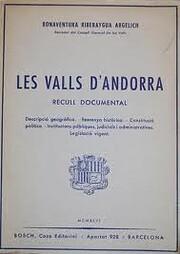 Les Valls d'Andorra. Recull documental av…
