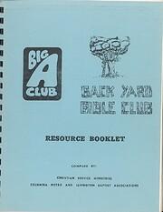 Big A Club Back Yard Bible Club Resource…