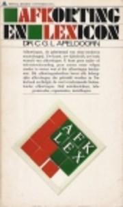 Afkortingen lexicon by C. G. L. Apeldoorn