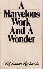 A Marvelous Work and A Wonder de LeGrand…