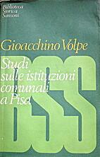Studi sulle istituzioni comunali a Pisa.…