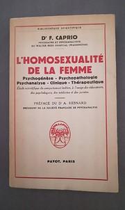 L'homosexualité de la femme:…