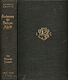 Johannes Calvins Auslegung des Propheten…