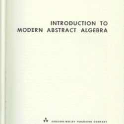 Introduction to Modern Abstract Algebra