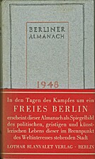 Berliner Almanach 1948 by Walther Georg…