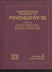 Comprehensive textbook of psychiatry, II de…