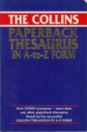 Collins Paperback Thesaurus: In A to Z Form…