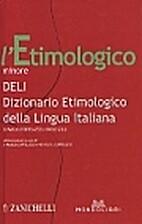 Dizionario etimologico della lingua italiana…