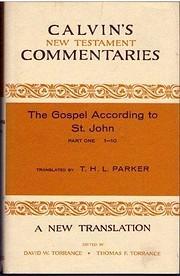 Gospel According to St. John 1-10 (Calvin's…
