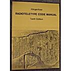 Radioteletype Code Manual by Joerg…