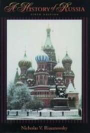 A History of Russia – tekijä: Nicholas V.…