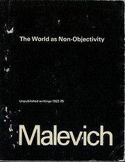 The world as non-objectivity: Unpublished…