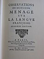 Observations sur la langue francoise by…