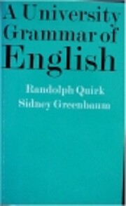 University Grammar of English de Randolph…