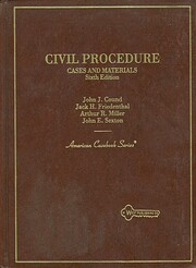 Civil procedure por Jack H. Friedenthal