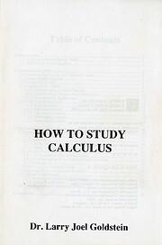 How to study calculus de Larry Joel…