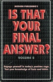 Is That Your Final Answer? af Modern…