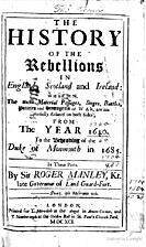 The history of the rebellions in England,…