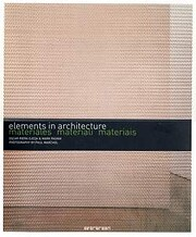 ELEMENTS IN ARCHITECTURE - MATERIAIS por…