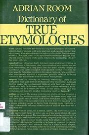 A Dictionary of True Etymologies av Adrian…
