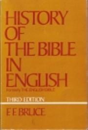 History of the Bible in English av F.F.…