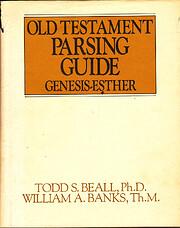 Old Testament Parsing Guide, Vol. 1:…
