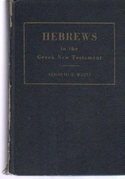 Hebrews in the Greek New Testament for the…
