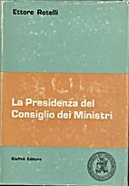 La Presidenza del Consiglio dei ministri: il…