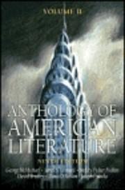 Anthology of American Literature Volume II…