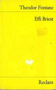 Effi Briest. Roman. af Theodor Fontane