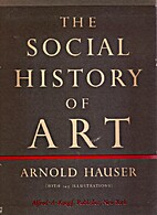 The social history of art. Volume I by…
