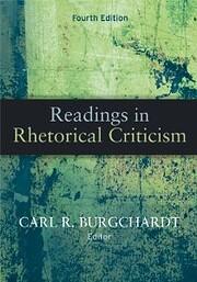 Readings In Rhetorical Criticism, 4th…