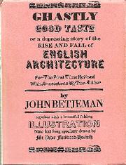 Ghastly Good Taste av John Betjeman