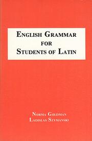 English Grammar for Students of Latin por…