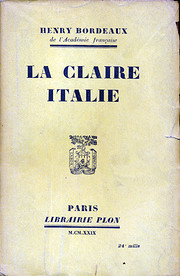 La claire Italie av Henry Bordeaux…
