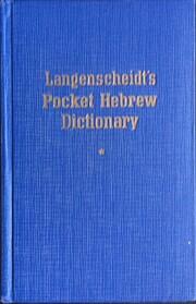 Langenscheidt's Pocket Hebrew…