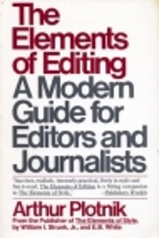 The elements of editing : a modern guide for…
