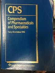 Compendium of Pharmaceuticals and…