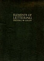 Elements of lettering (with XIII full-page…