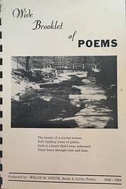Wide Booklet of Poems por Willis M. Shenk
