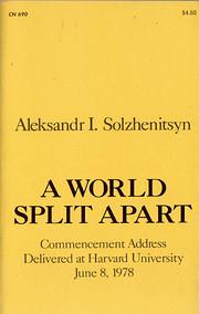 A World Split Apart: Commencement Address…