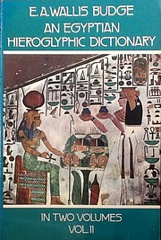An Egyptian Hieroglyphic Dictionary: With an…