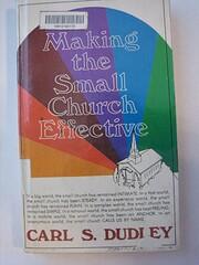 Making the small church effective por Carl…