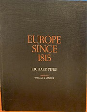 Europe since 1815 av Richard Pipes
