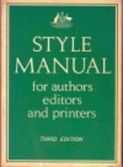 Style manual for authors, editors and…
