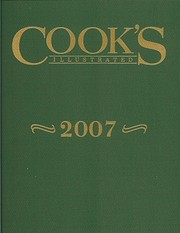 Cook's Illustrated 2007 por Cook's…