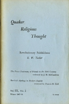 Quaker religious thought : volume ix, № 2…