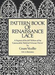Pattern Book of Renaissance Lace: A Reprint…