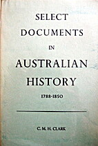 Select documents in Australian history by…