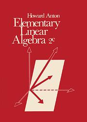 Elementary Linear Algebra av Howard Anton